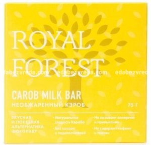 Шоколад из необжаренного кэроба Royal Forest, 75 г);