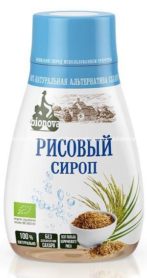 Органический сироп Bionova рисовый, 230 мл);