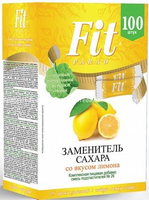 Заменитель сахара в стиках FitParad №26 Лимон, 100 шт.