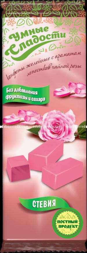 """Конфеты желейные """"Умные сладости"""" Лепестки чайной розы, 90 г.);"""