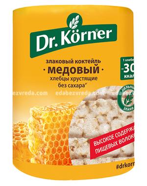 """Хлебцы Dr.Korner """"Злаковый коктейль"""" Медовый, 100 г);"""