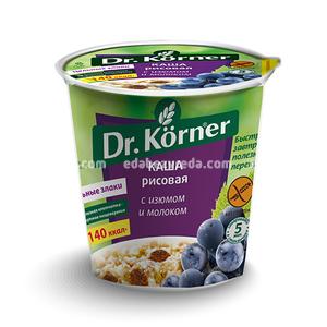 Каша Dr.Korner Рисовая с изюмом и молоком, 40 г );