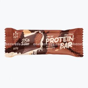 Батончик протеиновый FIT KIT PROTEIN BAR Шоколад-Фундук, 60 г.);