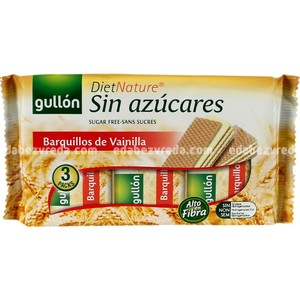 Вафли DietNature GULLON  безглютеновые, без сахара Ванильные , 210 г);