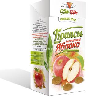 Крипсы Яблочные TEAVIT (нежные сухарики), 30 г.);