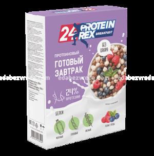 Готовый протеиновый завтрак ProteinRex Лесные ягоды, 250 г.);