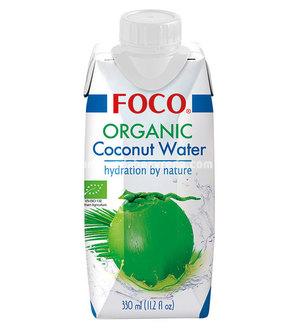 Органическая кокосовая вода FOCO, 330 мл.);