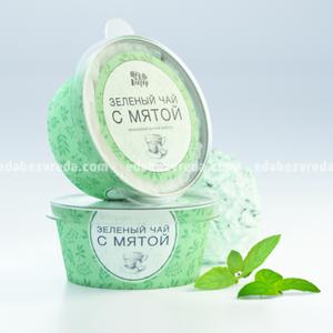 """Мороженое без сахара """"Мёд и Клевер"""" Зелёный чай с мятой, 190 мл.);"""