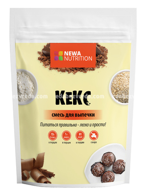 Смесь для высокобелкового кекса Newa Nutrition Шоколадный вкус, 200 г.);