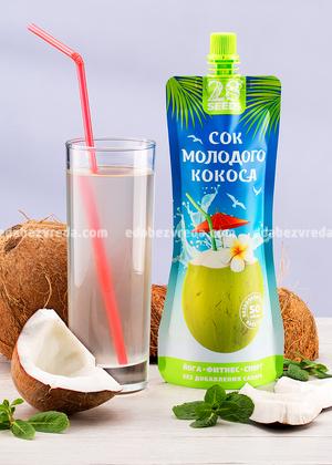 Сок молодого кокоса (кокосовая вода) 28SEEDS, 250 мл.);