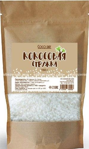 Стружка кокосовая Coco Day 65%, 150 г.);