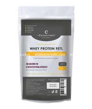 Изолят сывороточного белка 95% Excess Free, 200 г