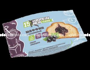 Маффин протеиновый ProteinRex Чёрная смородина, 40 г.);