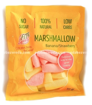 Маршмеллоу Fit&Sweet Клубника-Банан, 50 г);