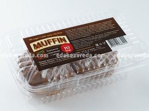 Маффин Fit&Sweet творожный с какао, 90 г);