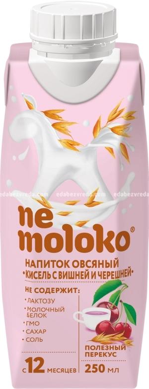 Кисель овсяный с вишней и черешней Nemoloko, 250 мл.);