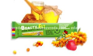 Натуральные низкоуглеводные конфеты Beauty.Fit Облепиха и Клубника, 63 г.);