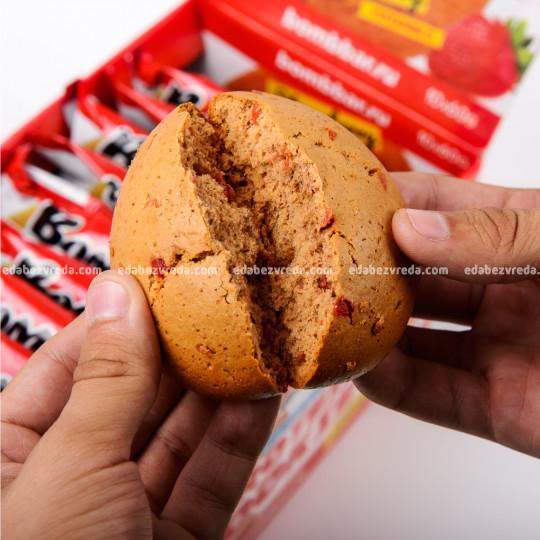 Печенье протеиновое BOMBBAR Клубника, 60 г