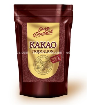 Какао-порошок обезжиренный Easy Product, дой-пак 1 кг);
