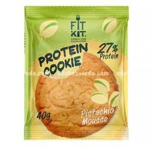 Протеиновое печенье Fit Kit Protein Cookie Фисташковый мусс, 40 г.);