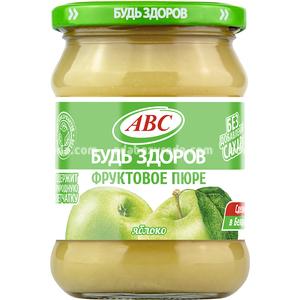 """Пюре яблочное """"Будь Здоров"""" ABC, 450 г.);"""