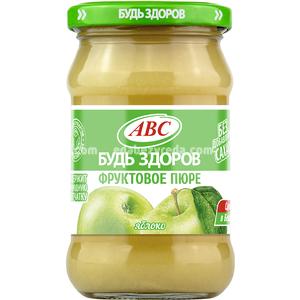 """Пюре яблочное """"Будь Здоров"""" ABC, 280 г.);"""