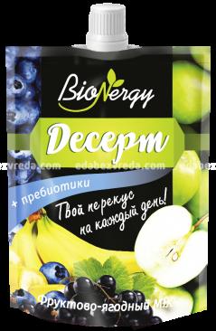 Десерт BioNergy Фруктово-ягодный MIX, 140 г);