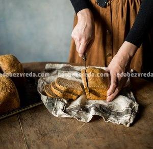 """Чёрный хлеб из Ржаных отрубей с семенами льна """"Можно?Нужно!"""", 320 г.);"""