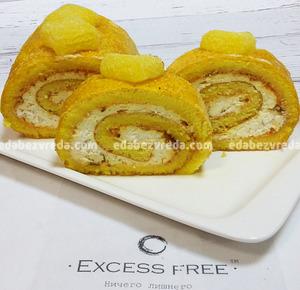 """Рулет низкоуглеводный Excess Free """"Сливочное манго"""", 300 г.);"""
