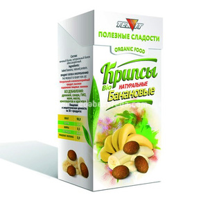 Крипсы Банановые TEAVIT (нежные сухарики), 30 г.);