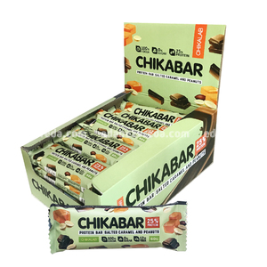 Батончик протеиновый в глазури Chikabar Chikalab Арахис, 60 г.);