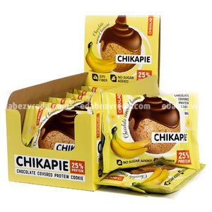 Печенье протеиновое с глазурью Chikapie Chikalab Банан с шоколадом, 60 г.);