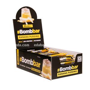 Батончик протеиновый в глазури BOMBBAR Банановый пудинг, 40 г.);
