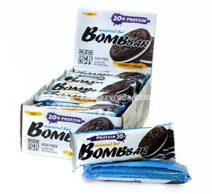 Батончик протеиновый BOMBBAR Печенье с кремом, 60 г);