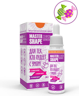 Заменитель сахара Master Shape №26 со вкусом Карамели, 30 мл.);