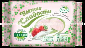 """Зефир """"Умные сладости"""" со вкусом клубники со сливками, 150 г"""