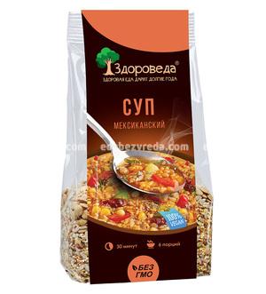 """Суп мексиканский с рисом и кукурузой """"Здороведа"""", 250 г."""