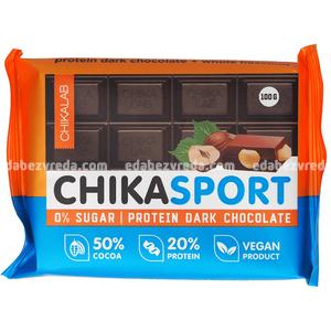 Шоколад тёмный с фундуком Chikalab, 100 г.);