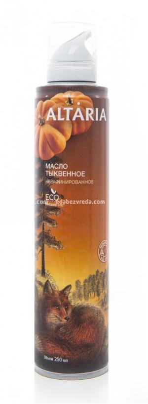 Масло-спрей тыквенное нерафинированное ALTARIA, 250 мл.);