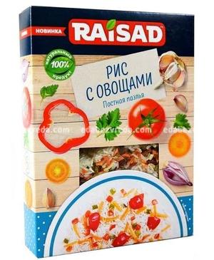 """Рис с овощами """"Постная паэлья"""" RAISAD, 200 г);"""
