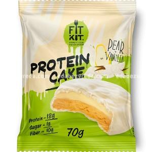 Протеиновое печенье FIT KIT WHITE CAKE Груша-Ваниль, 70 г.);