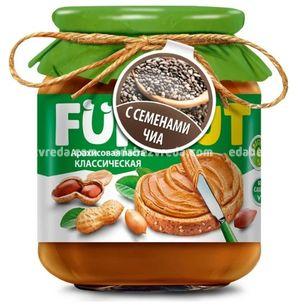 Арахисовая паста FUNNUT с семенами чиа, 340 г.);