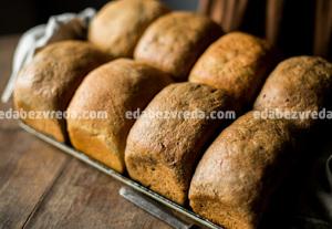 """Чёрный хлеб из Ржаных отрубей с семенами льна """"Можно? Нужно!"""", 320 г);"""