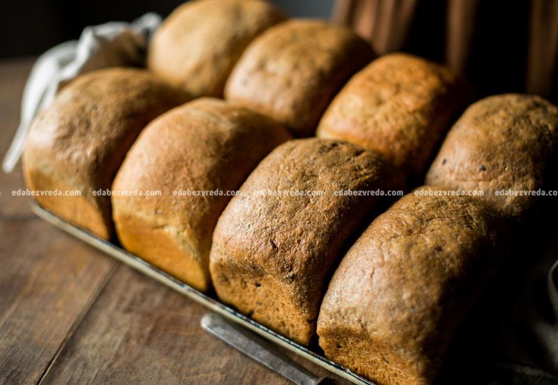 """Чёрный хлеб из Ржаных отрубей с семенами льна """"Можно?Нужно!"""", 320 г."""