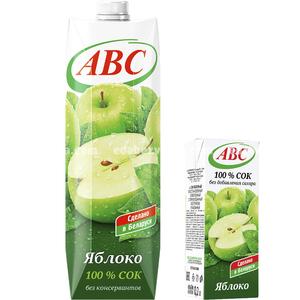 Сок яблочный без сахара ABC SLIM, 200 мл.);