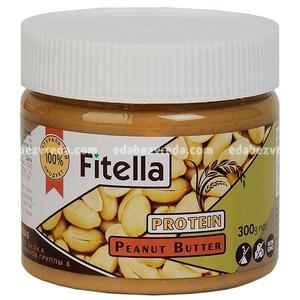 Арахисовая паста с рисовым белком Fitella, 300 г);