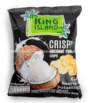 Кокосовые чипсы King Island из сердцевины пророщенного кокоса, 40 г