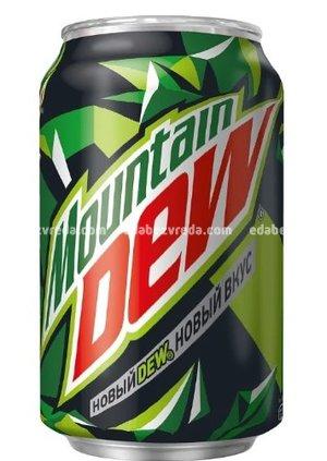 Напиток Mountain Dew без сахара, 0.33 л.);